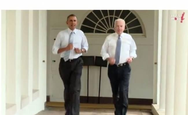 Κάνοντας τζόκινγκ στον Λευκό Οίκο (vid)